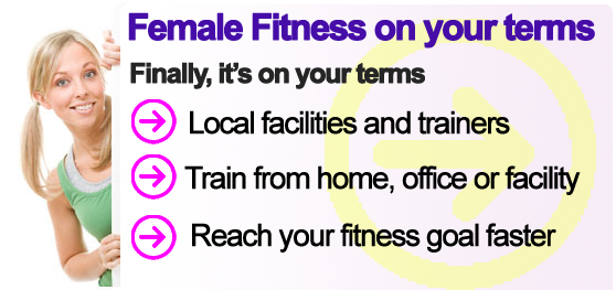 female fitness trainer